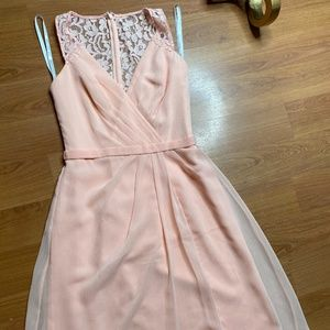 David's Bridal Lace Dress (Peach)